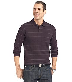 Van Heusen® Men's Long Sleeve Jasper Windowpane Polo