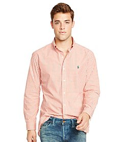 Polo Ralph Lauren® Men's Long Sleeve Checked Poplin Button Down