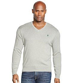 Polo Ralph Lauren® Men's Big & Tall Pima V-Neck Sweater