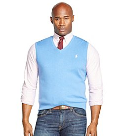 Polo Ralph Lauren® Men's Big & Tall Pima V-Neck Vest