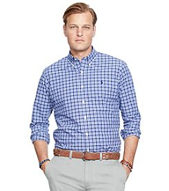 Polo Ralph Lauren® Men's Big & Tall Long Sleeve Plaid Poplin Shirt