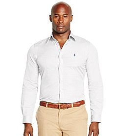 Polo Ralph Lauren® Men's Big & Tall Long Sleeve Striped Poplin Shirt