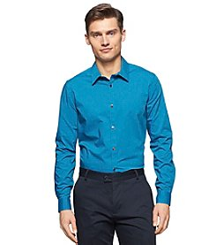 Calvin Klein Men's Long Sleeve Stripe Poplin Shirt