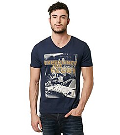 Buffalo by David Bitton Men's Short Sleeve V-Neck Experience The Glory Tee