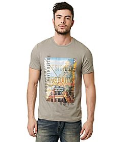 Buffalo by David Bitton Men's Short Sleeve Crew Neck Architecture Graphic Tee