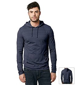 Buffalo by David Bitton Men's Long Sleeve Striped Hooded Knit Tee