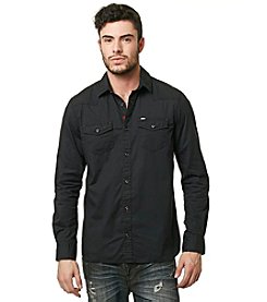 Buffalo by David Bitton Men's Long Sleeve Woven Button Down Shirt