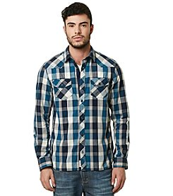 Buffalo by David Bitton Men's Long Sleeve Large Check Button Down Shirt