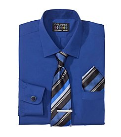 Alexander Julian® Men's Regular Fit 5-Piece Dress Shirt & Tie Set
