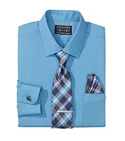 Alexander Julian® Men's Regular Fit 5-Piece Dress Shirt & Tie Set