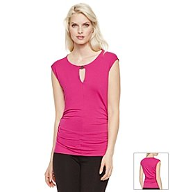 Vince Camuto® Cap Sleeve Keyhole Top