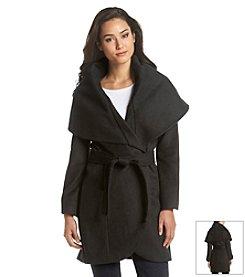 T Tahari® Belted Wrap Coat