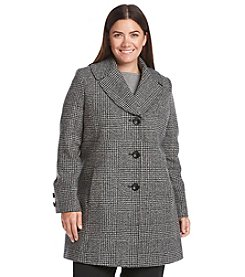 Jones New York® Plus Size Notch Collar Coat