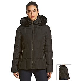 Calvin Klein Short Quilted Box Coat