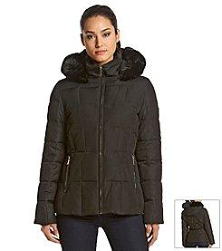 Calvin Klein Short Quilted Box Coat