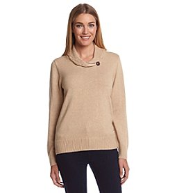 Jeanne Pierre® One Button Wrap Sweater