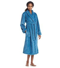 Jasmine Rose Fleece Wrap Robe
