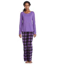 Relativity® Fleece Pajama Set