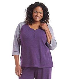 KN Karen Neuburger Plus Size Raglan Pajama Top