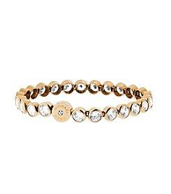 Michael Kors® Goldtone Round Cut Stone Tennis Bracelet