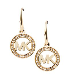 Michael Kors® Goldtone Signature Pave Drop Earrings