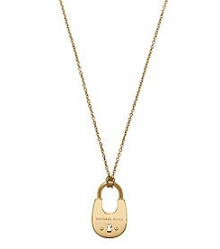 Michael Kors® Goldtone Padlock Pendant Necklace