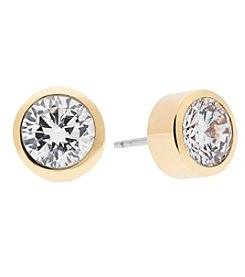 Michael Kors&Reg; Goldtone Pave Round Cut Stud Earrings