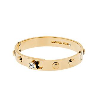 Michael Kors® Goldtone Pave Astor Hinge Bracelet With