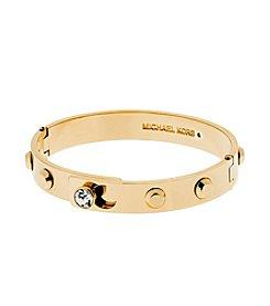 Michael Kors® Goldtone Pave Astor Hinge Bracelet With Cubic Zirconia