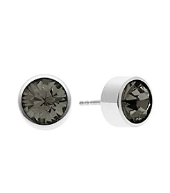 Michael Kors® Silvertone Grey Round Cut Stud Earrings