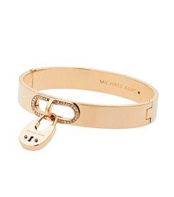 Michael Kors® Goldtone Pave Bracelet With Padlock Charm