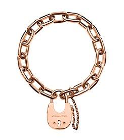 Michael Kors® Rose Goldtone Padlock Link Bracelet
