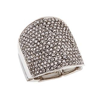 Erica Lyons® Silvertone Wide Wrap Fashion Stretch Ring