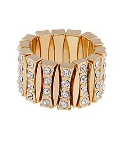 Erica Lyons® Goldtone Four Row Fashion Stretch Ring