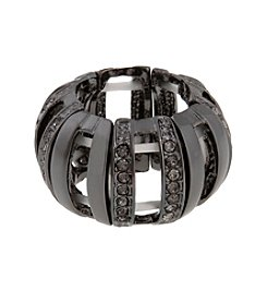 Erica Lyons® Hematite Tone Dome Band Fashion Stretch Ring