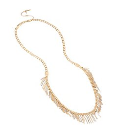 Kenneth Cole® Mixed Two-Tone Fringe Long Necklace