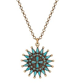 Lucky Brand® Goldtone Turquoise Pendant Necklace
