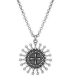 Lucky Brand® Silvertone Pendant Necklace