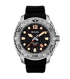 Bulova® Men's Black Dial Watch
