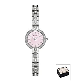 Bulova® Women's Swarovski Crystal Watch And Bracelet Box Set