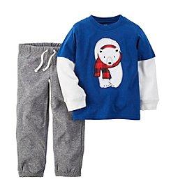 Carter's® Boys' 2T-4T 2-Piece Polar Bear Pants Set