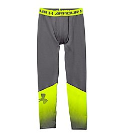 Under Armour® Boys' 8-20 Coldgear® Armour Big Logo Fitted Leggings