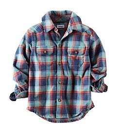 Carter's® Boys' 2T-7 Plaid Twill Button-Front Shirt