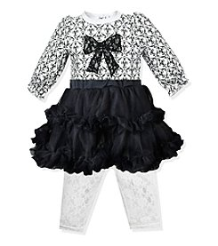 Baby Essentials® Baby Girls' 3-24M Floral Lattice Tutu With Leggings Set
