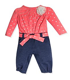 Baby Essentials® Baby Girls' 3-9M Star Print Coverall