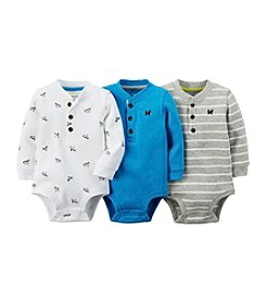 Carter's® Baby Boys 3-Pack Thermal Henley Bodysuits