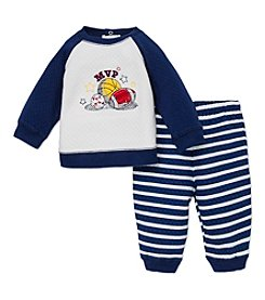 Little Me® Baby Boys 3-12M MVP Quilted Pants Set