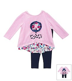 Rare Editions® Baby Girls' 12-24M Floral Embroidered Top Set