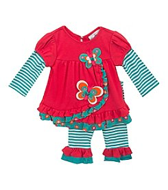 Rare Editions® Baby Girls' Striped Butterfly Set