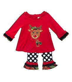 Rare Editions® Baby Girls' 2-Piece Ready Set Reindeer Set